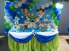 Toy Story Table - Love the table cloth