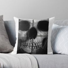 'xray skull' Throw Pillow by My Arts, Skull, Throw Pillows, Art Prints, Printed, Awesome, Shop, Products, Art Impressions