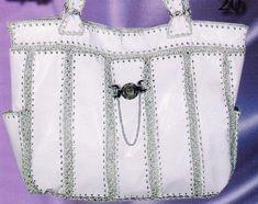 Стильная сумочка, схема.  АЛЛА НЕВИДОМАЯ (Семейко Анна).  Сумка из кожи своими руками, вязаная крючком сумка схема.
