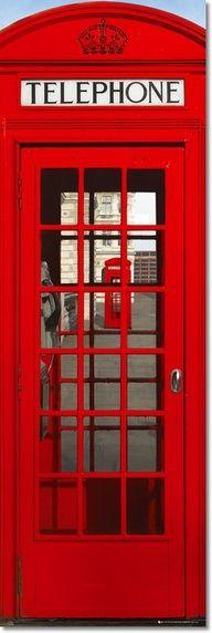 Cabine vermelha.
