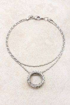 Silver Crystal Eternity Bracelet on Emma Stine Limited