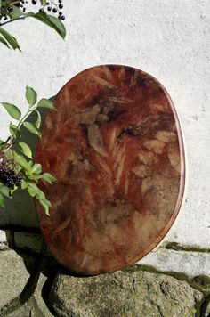 tread gently on the earth - natural dyed shaman drum