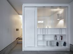 act_romegialli, Marcello Mariana · San Giobbe · Architettura italiana Living Room Shelves, Living Room Sets, Living Spaces, Residential Architecture, Interior Architecture, Small Apartments, Small Spaces, Temporary Housing, Apartment Renovation