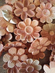 Flor de madeira 5cm sortidas - kit 10 un