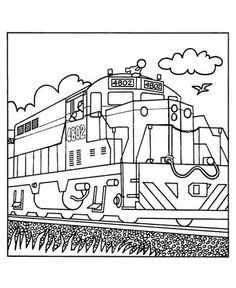 Real Train Coloring Pages | Coloring Pages - Trains4Kids ...