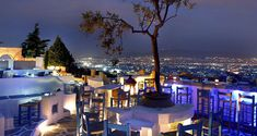 Evening in Greece Something Interesting To Read, Athens Guide, Popular Girl, Rome Italy, Where To Go, Santorini, Morocco, Night Life, Summertime