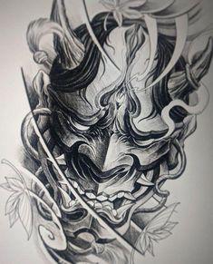 japanese tattoos symbols and meaning Samurai Maske Tattoo, Hannya Maske Tattoo, Samurai Tattoo Sleeve, Oni Tattoo, Shogun Tattoo, Armor Tattoo, Irezumi Tattoos, Japanese Demon Tattoo, Japanese Sleeve Tattoos