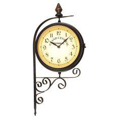indoor outdoor bracket clock and thermometer
