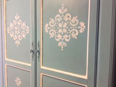 Shabby chic armoire - clothing armoire - wardrobe closet - shabby chic decor - local pickup by YouMatterDesigns on Etsy