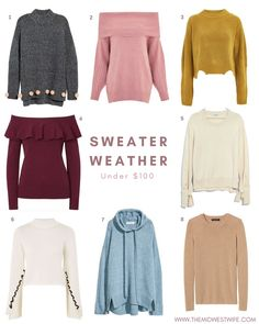 In keeping with this week's theme, I decided to do a roundup of my favorite cozy sweaters under $100. Is there really anything better this time of year than a cup of tea and a cozy sweater? Keep reading to check out eight of my current favorites! 1 | 2 | 3 | 4 |...Read More...