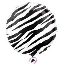 "Bulk Zebra Print Foil Birthday Balloons, 18"" at DollarTree.com"