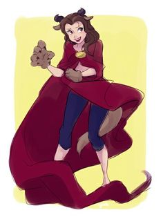 Belle dressed as Beast ❤️