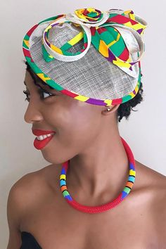 Get a distinctive and elegant look with these African Print fascinator hair clip. Made with African print fabric, fine plastic fibers and a comb attachment, these handmade colorful African Fascinator will give you a Royal presence to any outfit. Sinamay Hats, Millinery Hats, Fascinator Hats, African Accessories, African Jewelry, Hair Accessories, Bridal Hair Fascinators, Fascinator Hairstyles, African Hats