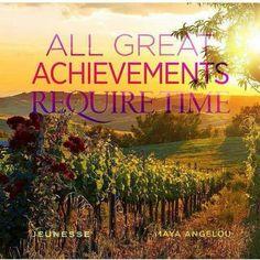 """All great achievements require time."" - Maya Angelou  ****************************************************** www.wowspastudio.jeunesseglobal.com wowspastudio@gmail.com 317-969-7727 #instantlyageless #youthrestored #jeunesse #jeunesseglobal #generationyoung #skincare #beflawless #jeunessewowspa #wowspastudio #stayyoungwithblaney #Maryland"