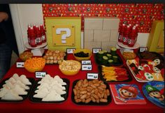 Mario party food table.