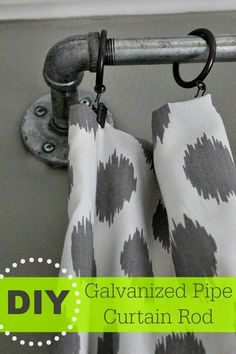 LOVE! And these will go great with the sliding door (of the same rod styling) that I'm putting on the laundry room. Southern State of Mind: DIY Galvanized Curtain Rods