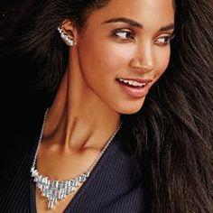 Necklaces   AVON.....Cascading Baguettes Collar Necklace. Originally $24.99 on Sale for $16.99  #AvonbyYvetteonline