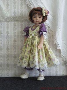 "Purple Yellow Set Handmade for 13"" Effner Little Darling 14"" Kish BJD by JEC | eBay. Solod for $61.99 on 8/4/13."