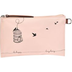 Longchamp Le Pliage Cage Aux Oiseaux Cosmetic Case Monogramming... NOK) ? liked on Polyvore featuring beauty products, beauty accessories, bags \u0026amp; cases, ...