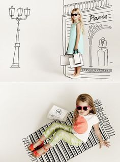 Campaign imagery using illustrations by Grace Lee for Witchery Kids, Summer 2013.