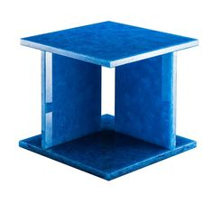 Font Side Table, Pulpo. Designed by Sebastian Herkner, Font is a graphic side table made in recycled glass.