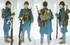 WWI French Uniforms were similar to the use and function of American Uniforms. While the French uniforms were longer than the Americans.