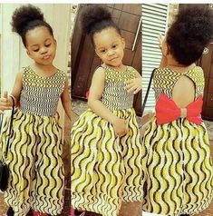 Ankara Styles For Kids, African Dresses For Kids, African Babies, African Children, African Women, African Print Fashion, African Fashion Dresses, African Attire, African Wear