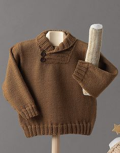 Book Baby 70 Autumn / Winter | 29: Baby Sweater | Camel