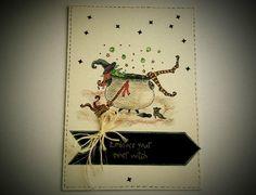 Saca tu bruja interior Tajeta artesanal, tarjeta hecha a mano