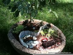 pictures of fairy gardens - Google Search
