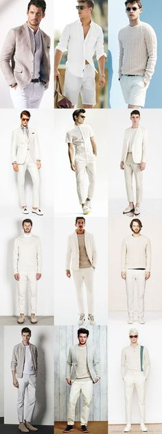 Men's All-White Outfit Inspiration