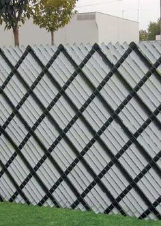 Fence slate.  http://www.yourfencestore.com/slats/aluminumslat.asp