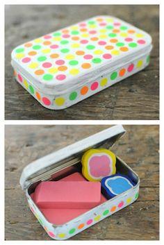 Back To School Crafts: School Supplies Gone Wild - Eraser Box DIY