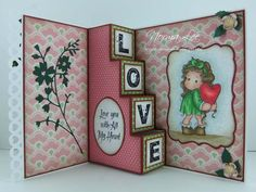 Love/Valentine card (view 2 of 2) using Magnolia stamps from Magnolia-licious by Norma Lee of From My Craft Room. / http://www.magnoliastamps.us/ / #crafts #cards