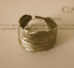 Bronze feather ring 2