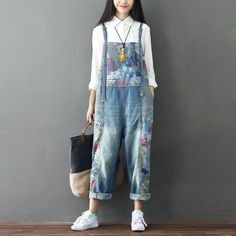 Details about Womens Dungarees Jeans BIB Overalls Slim Ripped Jumpsuit Romper Shorts Plus Size Casual Print Overall With Pocket Denim Plus Size Jeans Jumpsuit Romper For Women Womens Dungarees, Dungaree Jeans, Jeans Jumpsuit, Denim Overalls, Denim Pants, Overalls Women, Cotton Jumpsuit, Lace Jumpsuit, Casual Jumpsuit