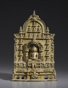 A copper alloy Jain shrine Gujarat, dated 1235 (Samvat 1157)
