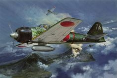 Imperial Japanese Navy, Dawn of Pearl Harbour Zero BFD Aviation Theme, Aviation Art, Ww2 Aircraft, Military Aircraft, Heroes And Generals, Imperial Japanese Navy, Airplane Art, Mobile Art, Ww2 Planes