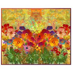 Klimt's Poppies by telynor on Polyvore featuring polyvore, art, abstract and collage #Klimt