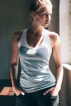 Wear loose-fitting tops for lat pulldowns, and built-in bras for the elliptical.