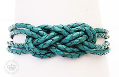 Lederarmband - Flechtarmband Knoten von JanoschDesigns auf DaWanda.com