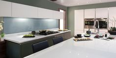 #Glossy Paloma #White - Axiom Formica Laminated Worktop #Kitchen