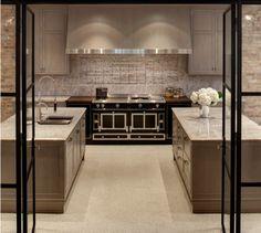 nuHaus transitional kitchen with a black La Cornue range La Cornue, Küchen Design, House Design, Interior Styling, Interior Design, Cheap Apartment, Bohemian Style Bedrooms, Little Kitchen, Transitional Kitchen