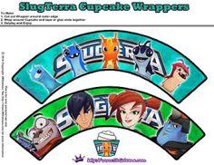 Slugterra printable cupcake wrappers ~ Free Slugterra Party Printables, and Crafts | SKGaleana #Slugterra