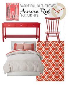 Pantone Fall Color Forecast - Aurora Red | westofgrey.com