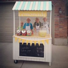 Cute lemonade stand - like the placement of the awning and sign