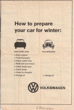 VW: Hot to prepare your car for winter Volkswagen Karmann Ghia, Volkswagen Gli, Ferdinand Porsche, Vw Variant, Kdf Wagen, Auto Union, Vw Classic, Vw Vintage, Vw Cars