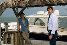 "Two of the stars of ""Bloodline,"" Ben Mendelsohn and Kyle Chandler, shoot a scene in the Keys. Description from fla-keys.com. I searched for this on bing.com/images"
