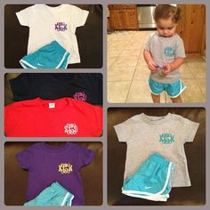 TODDLER Monogrammed / Personalized T Shirts by SmockYourTot, $13.95