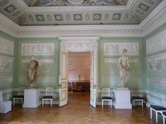 One of the Classic rooms inspired by Pompeii, Pavlovsk Palace.